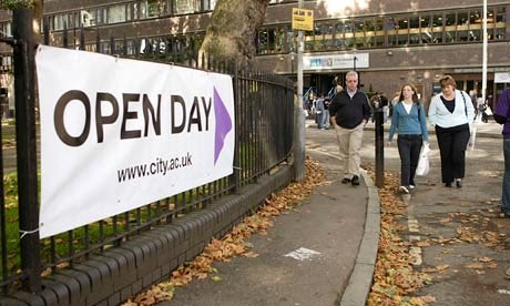 Open days are for those considering their choices. Photograph: Duncan Phillips